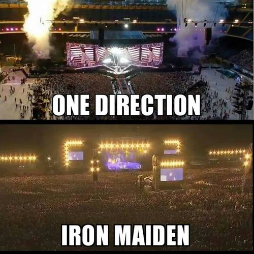 Iron Maiden vs One Direction