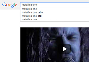 Google search Metallica One